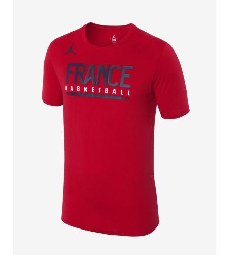 T-SHIRT JORDAN FRANCE BASKET-BALL ROUGE