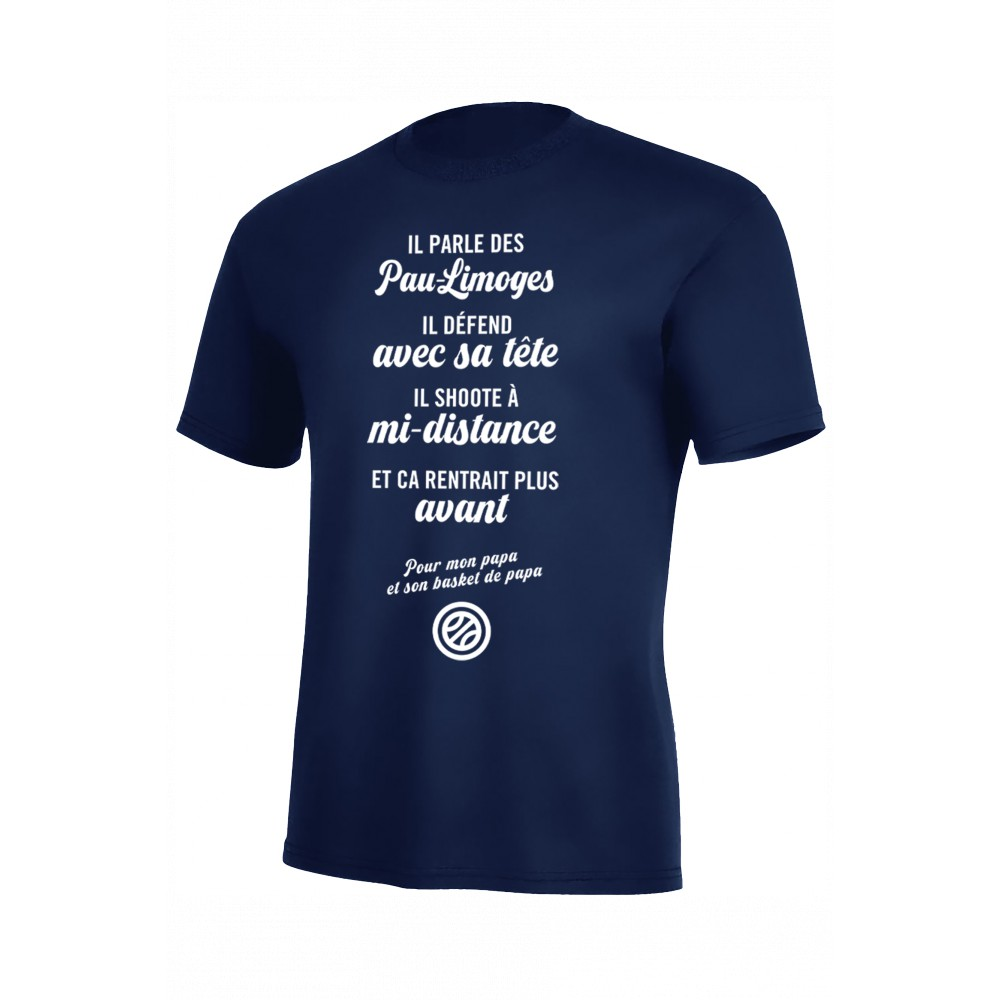 T-SHIRT PAPA BASKETTEUR