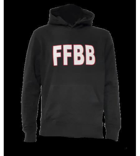 HOODY FFBB N/B COTON BIO