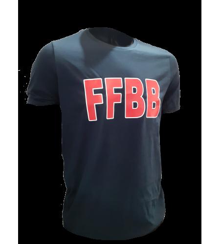 T-SHIRT FFBB M/R COTON SUPIMA