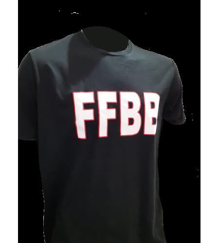 T-SHIRT FFBB N/B COTON SUPIMA