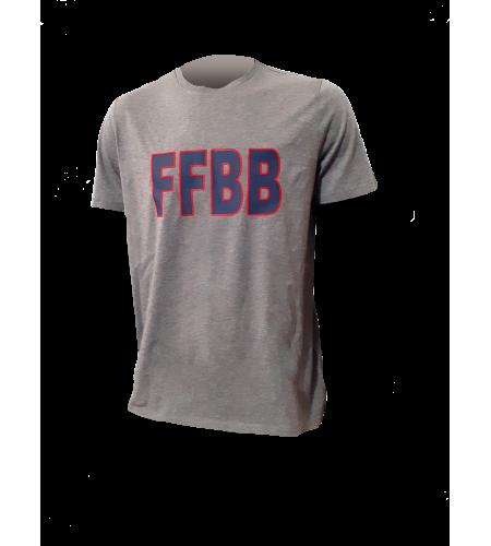 T-SHIRT FFBB G/B COTON SUPIMA