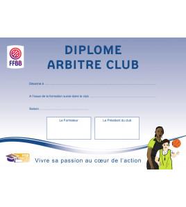 DIPLOME ARBITRE CLUB